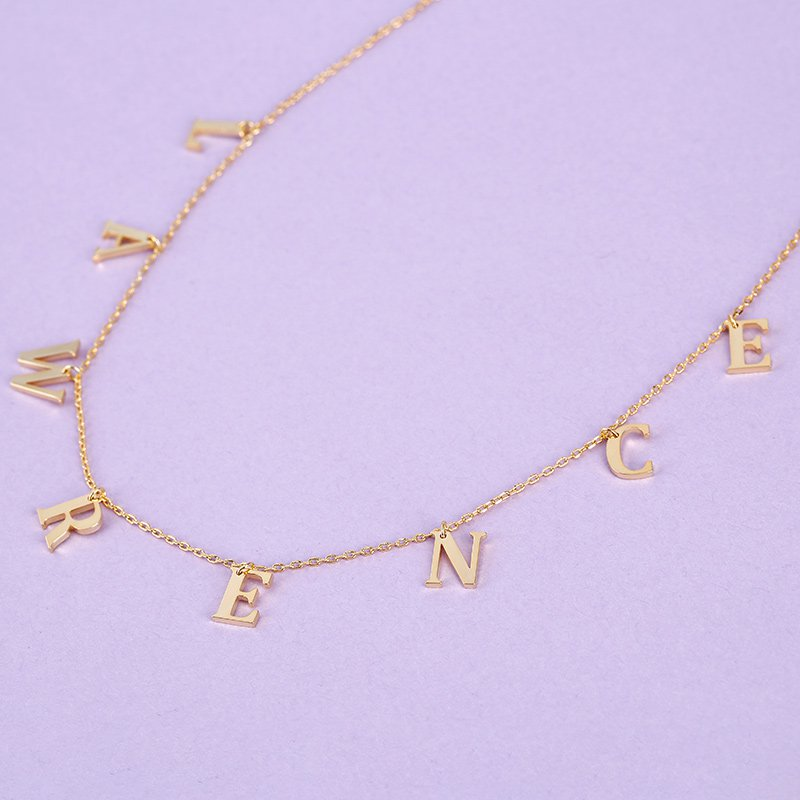 Name Choker Sterling Silver Necklace