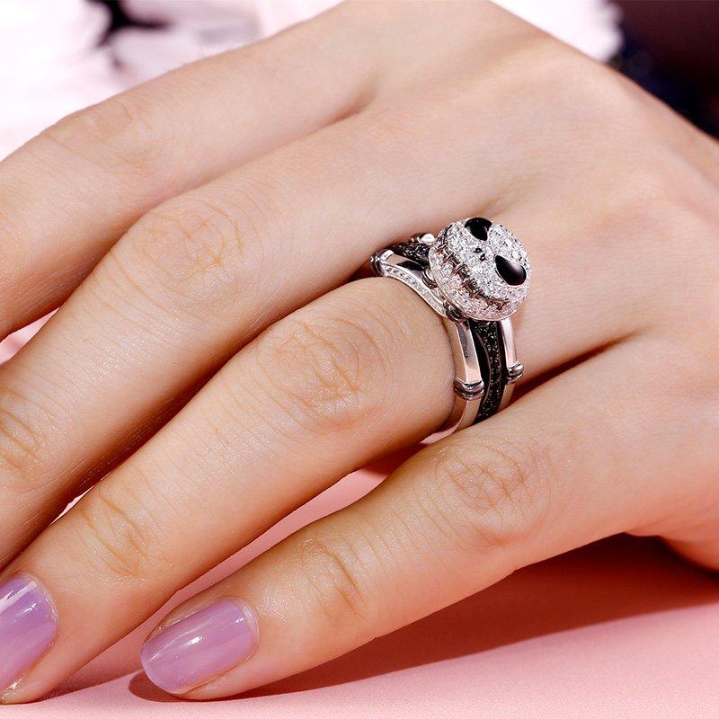 "Jeulia ""Romantic Soul"" Knot Sterling Silver Interchangeable Ring Set"