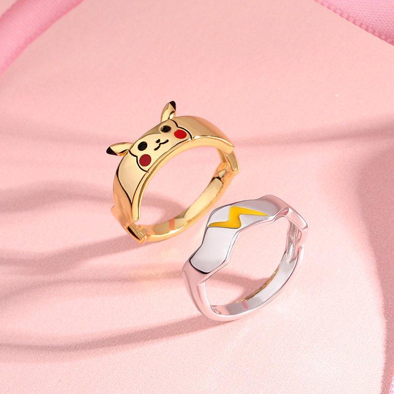"Jeulia ""I Choose You"" Cute Design Sterling Silver Couple Rings"