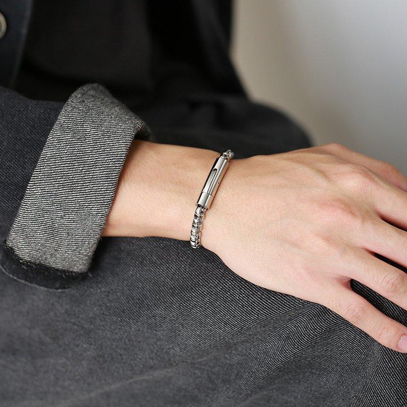 Pearl Chain Stainless Steel Men's Bracelet