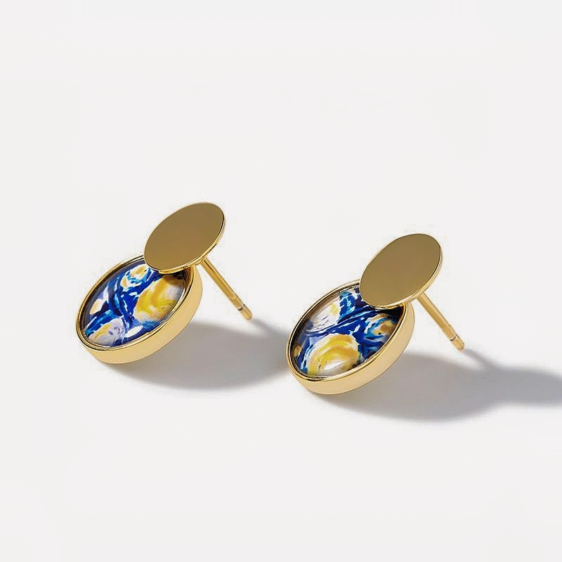 Two Piece Sterling Silver Earrings