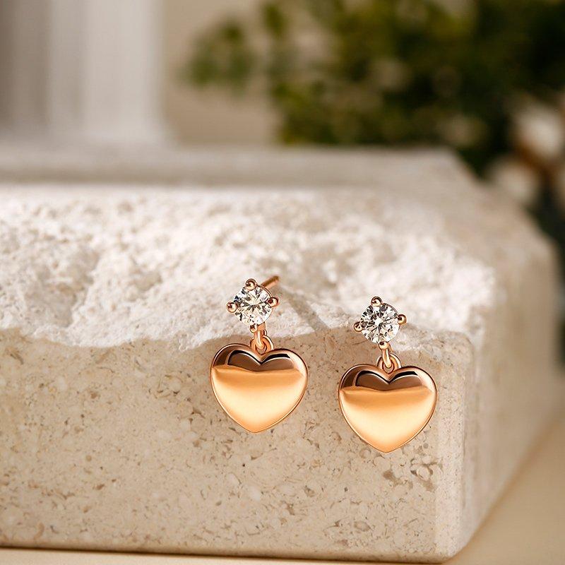 """""""Always in My Heart"""" Sterling Silver Children's Earrings"""