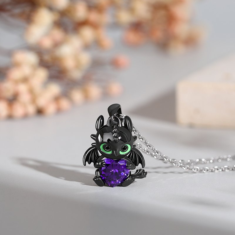 """Hug Me """"Show Your Heart"""" Dragon Heart Cut Sterling Silver Necklace"""